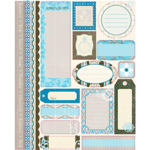 Authentique Paper - Journey Collection - Die Cut Cardstock Pieces - Tabloids