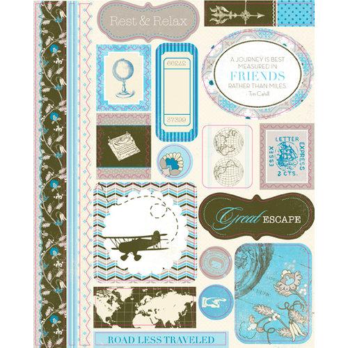 Authentique Paper - Journey Collection - Die Cut Cardstock Pieces - Icons