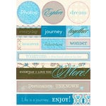 Authentique Paper - Journey Collection - Die Cut Cardstock Pieces - Noteables