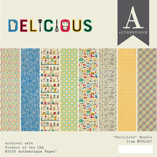 Authentique Paper - Delicious Collection - 6 x 6 Paper Pad Bundle