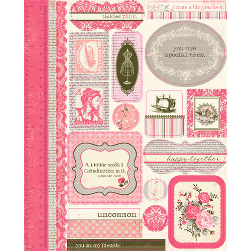 Authentique Paper - Uncommon Collection - Die Cut Cardstock Pieces - Icons