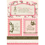 Authentique Paper - Uncommon Collection - Die Cut Cardstock Pieces - Excerpts