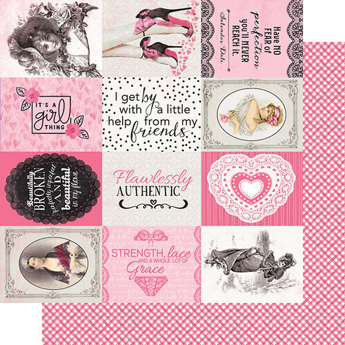 Authentique Paper - Flawless Collection - 12 x 12 Double Sided Paper - Six
