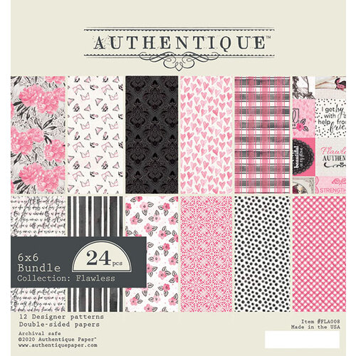 Authentique Paper - Flawless Collection - 6 x 6 Paper Pad Bundle