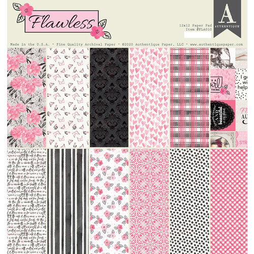Authentique Paper - Flawless Collection - 12 x 12 Paper Pad