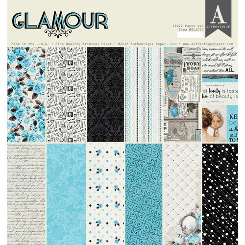 Authentique Paper - Glamour Collection - 12 x 12 Paper Pad