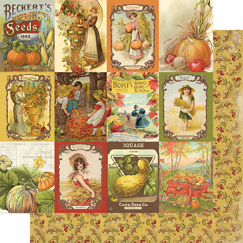 Authentique Paper - Gracious Collection - 12 x 12 Double Sided Paper - Seven