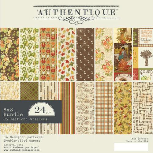 Authentique Paper - Gracious Collection - 8 x 8 Paper Pad - Bundle