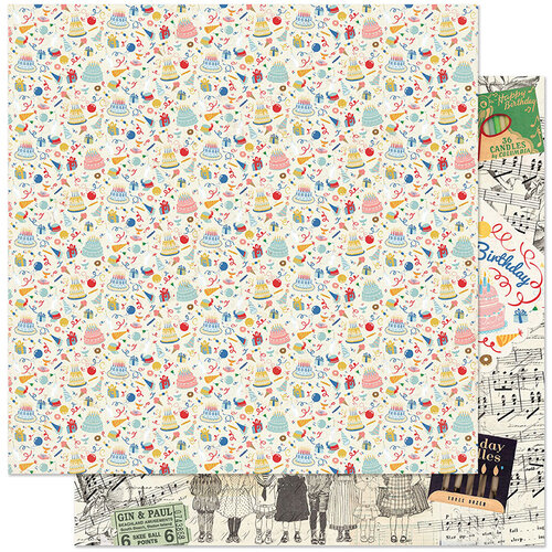 Authentique Paper - Hooray Collection - 12 x 12 Double Sided Paper - One