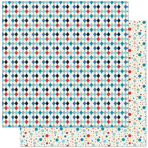 Authentique Paper - Hooray Collection - 12 x 12 Double Sided Paper - Two