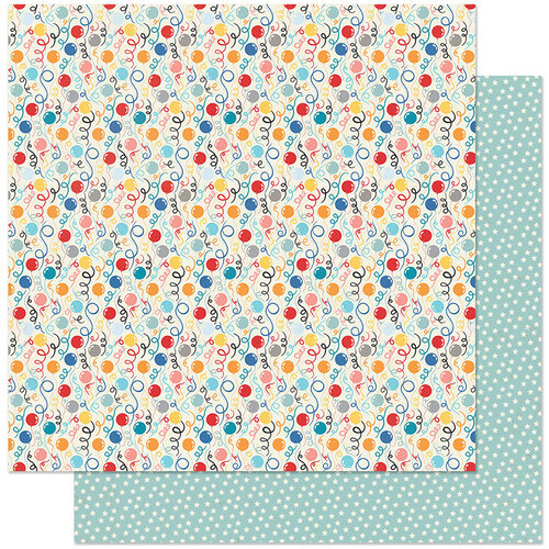 Authentique Paper - Hooray Collection - 12 x 12 Double Sided Paper - Number Three