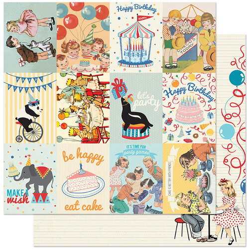 Authentique Paper - Hooray Collection - 12 x 12 Double Sided Paper - Seven