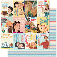 Authentique Paper - Hooray Collection - 12 x 12 Double Sided Paper - Eight