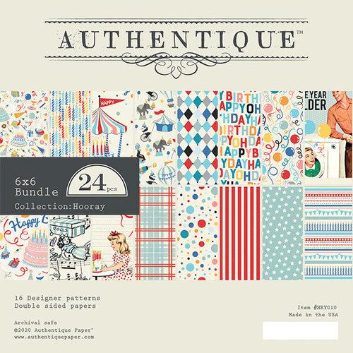 Authentique Paper - Hooray Collection - 6 x 6 Paper Pad Bundle