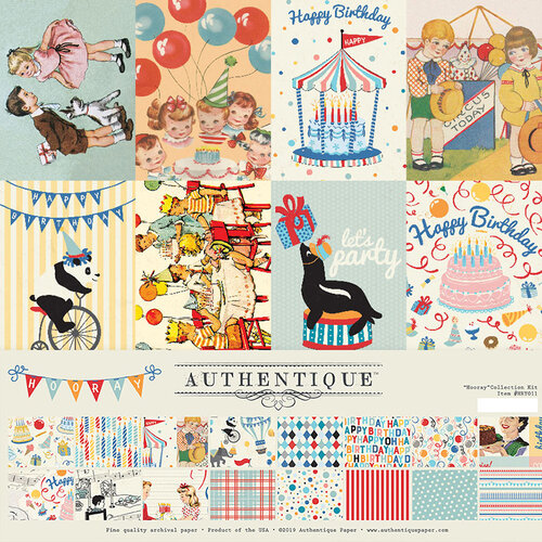 Authentique Paper - Hooray Collection - 12 x 12 Collection Kit