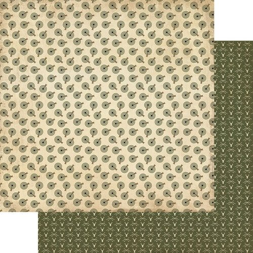 Authentique Paper - Hunting Collection - 12 x 12 Double Sided Paper - Number Three