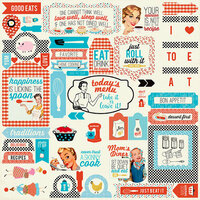 Authentique Paper - Ingredient Collection - 12 x 12 Cardstock Stickers - Details