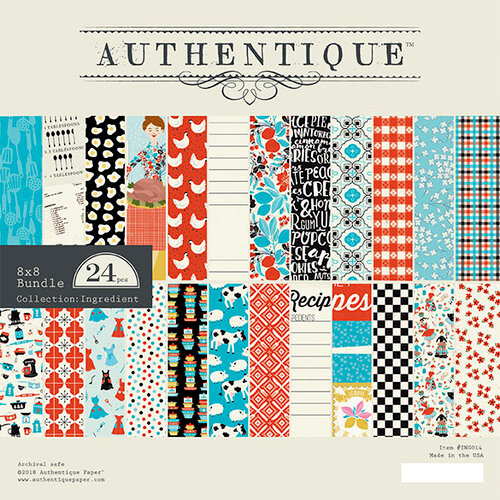 Authentique Paper - Ingredient Collection - 8 x 8 Paper Pad Bundle