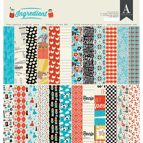 Authentique Paper - Ingredient Collection - 12 x 12 Collection Kit