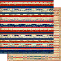 Authentique Paper - Liberty Collection - 12 x 12 Double-Sided Paper - Three