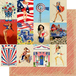Authentique Paper - Liberty Collection - 12 x 12 Double-Sided Paper - Seven