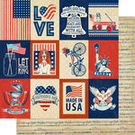 Authentique Paper - Liberty Collection - 12 x 12 Double-Sided Paper - Eight