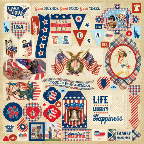 Authentique Paper - Liberty Collection - Cardstock Stickers - Details