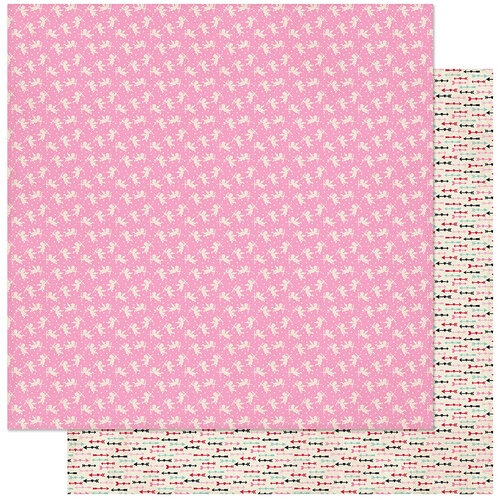 Authentique Paper - Love Notes Collection - 12 x 12 Double Sided Paper - Three