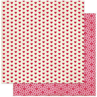 Authentique Paper - Love Notes Collection - 12 x 12 Double Sided Paper - Four