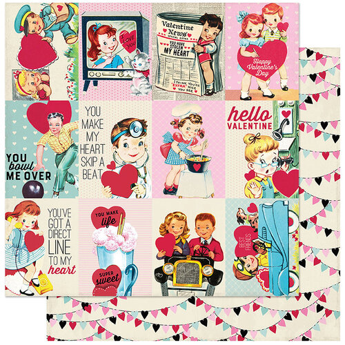 Authentique Paper - Love Notes Collection - 12 x 12 Double Sided Paper - Seven