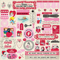 Authentique Paper - Love Notes Collection - 12 x 12 Cardstock Stickers - Details