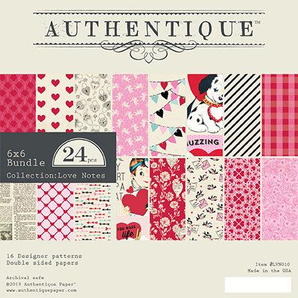 Authentique Paper - Love Notes Collection - 6 x 6 Paper Pad Bundle