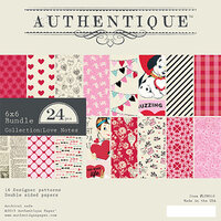 Authentique Paper - Love Notes Collection - 6 x 6 Paper Pad Bundle