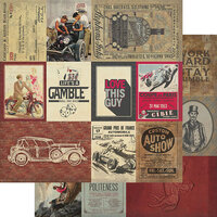 Authentique Paper - Manly Collection - 12 x 12 Double Sided Paper - Seven