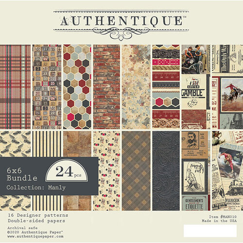 Authentique Paper - Manly Collection - 6 x 6 Paper Pad Bundle