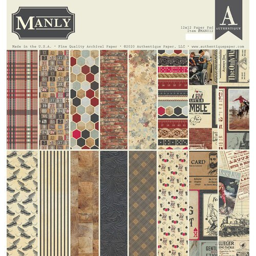 Authentique Paper - Manly Collection - 12 x 12 Paper Pad