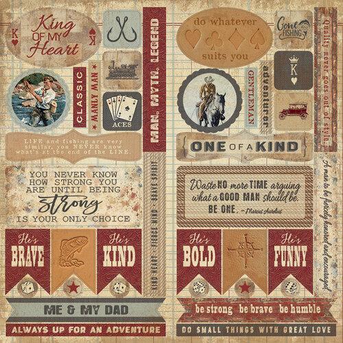 Authentique Paper - Manly Collection - Elements