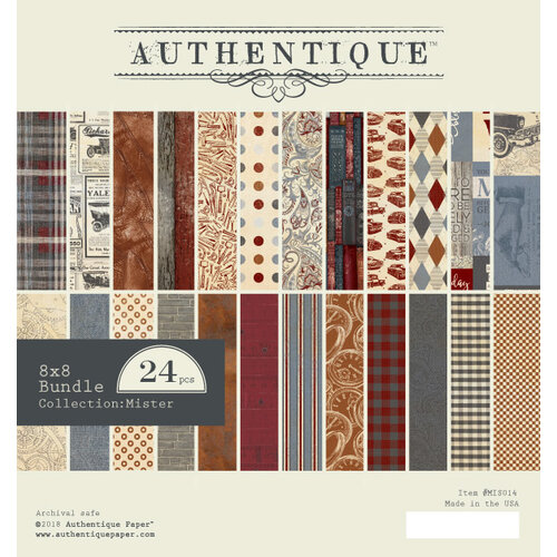 Authentique Paper - Mister Collection - 8 x 8 Paper Pad Bundle