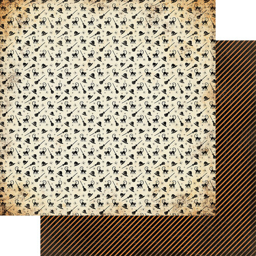Authentique Paper - Masquerade Collection - 12 x 12 Double Sided Paper - Number Three