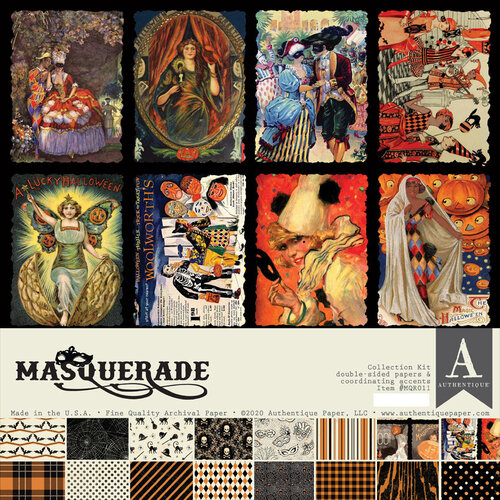 Authentique Paper - Masquerade Collection - 12 x 12 Collection Kit
