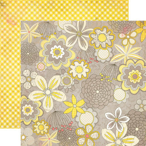 Authentique Paper - Blissful Collection - 12 x 12 Double Sided Paper - Happiness