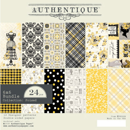 Authentique Paper - Poised Collection - 6 x 6 Paper Pad Bundle
