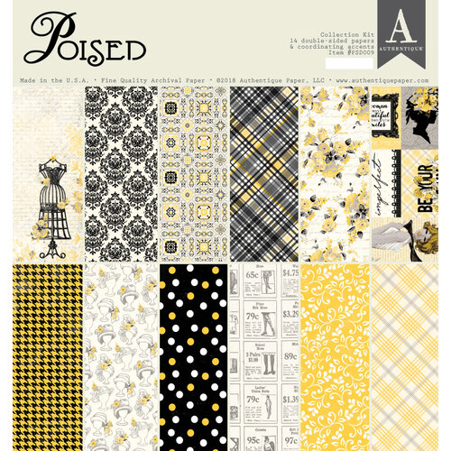 Authentique Paper - Poised Collection - 12 x 12 Collection Kit