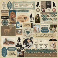 Authentique Paper - Purebred Collection - 12 x 12 Cardstock Stickers - Details