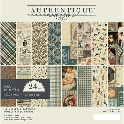 Authentique Paper - Purebred Collection - 6 x 6 Bundle