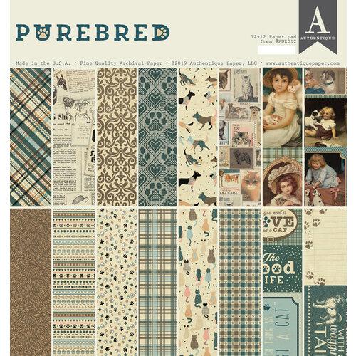 Authentique Paper - Purebred Collection - 12 x 12 Paper Pad