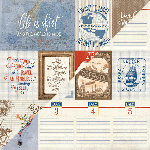 Authentique Paper - Quest Collection - 12 x 12 Double-Sided Paper - Eight