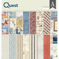 Authentique Paper - Quest Collection - 12 x 12 Double-Sided Paper Pad