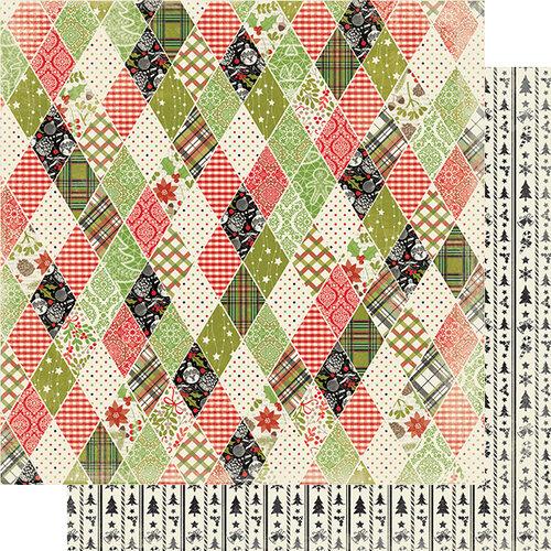 Authentique Paper - Christmas - Rejoice Collection - 12 x 12 Double Sided Paper - Five