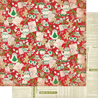 Authentique Paper - Christmas - Rejoice Collection - 12 x 12 Double Sided Paper - Fifteen